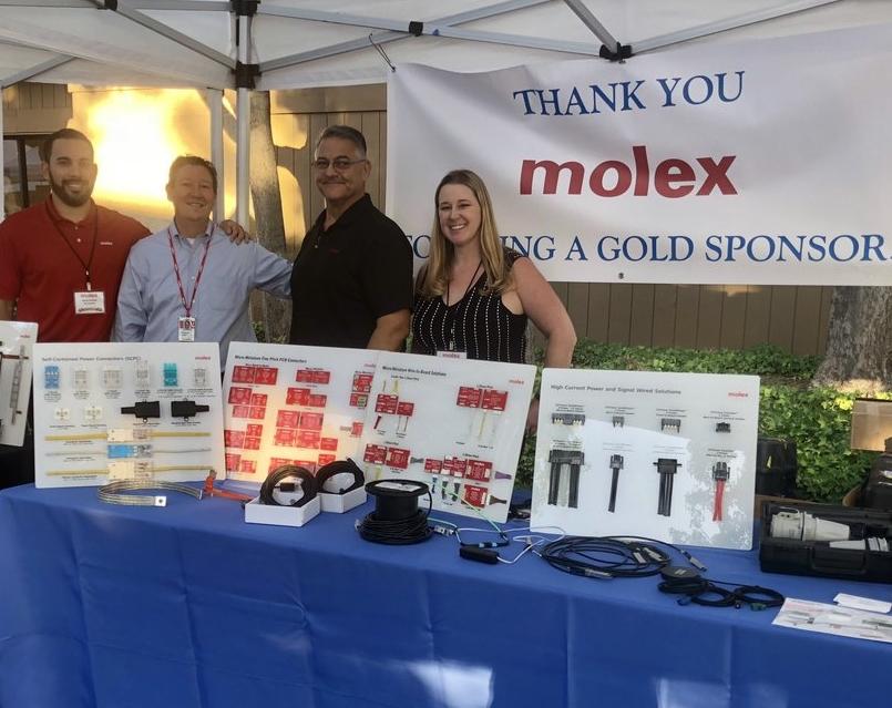 Molex – Patrocinador Gold da San Jose Tech Fair and Expo da Heilind EUA